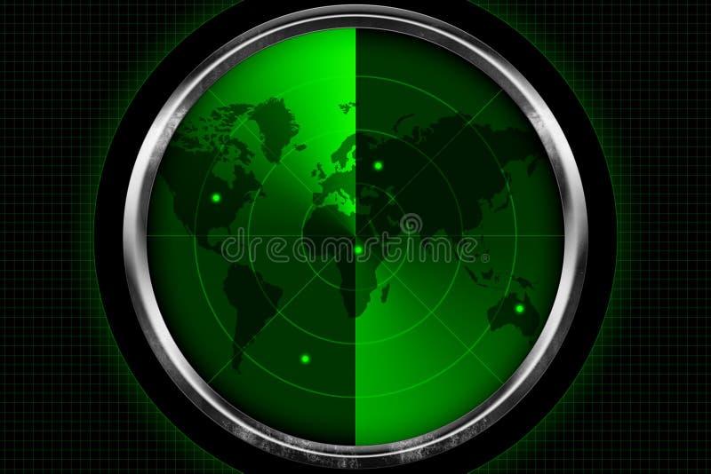 Écran radar illustration de vecteur