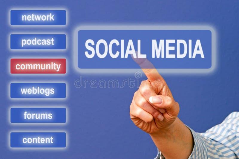 Écran social émouvant de medias images stock