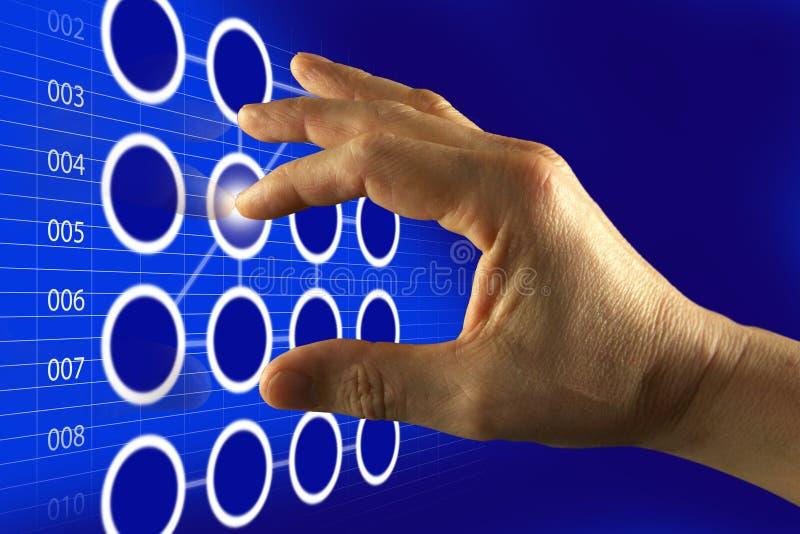 Écran tactile émouvant de Digitals de doigt image libre de droits