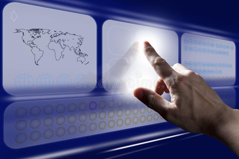 Écran tactile émouvant de Digitals de doigt photo stock