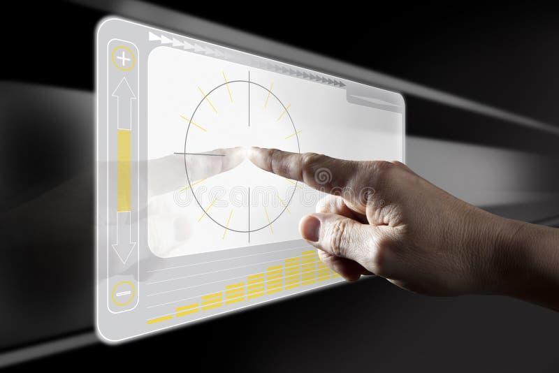 Écran tactile émouvant de Digitals de doigt photos libres de droits