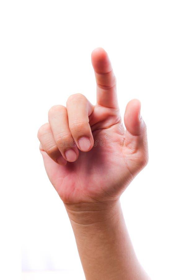Écran tactile de main d'isolement photo libre de droits