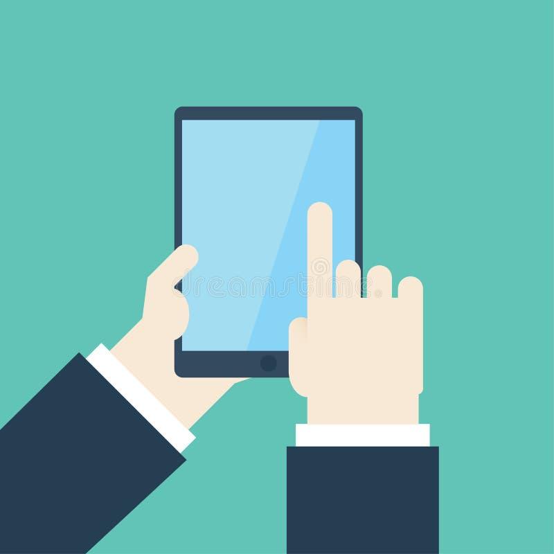 Écran tactile sur la Tablette images libres de droits