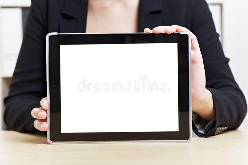 Écran tactile vide de tablette photographie stock libre de droits