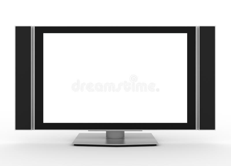 Écran TV d'affichage à cristaux liquides illustration stock
