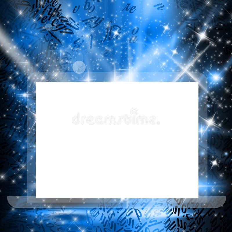 Écran vide sur un projecteur étoilé illustration de vecteur