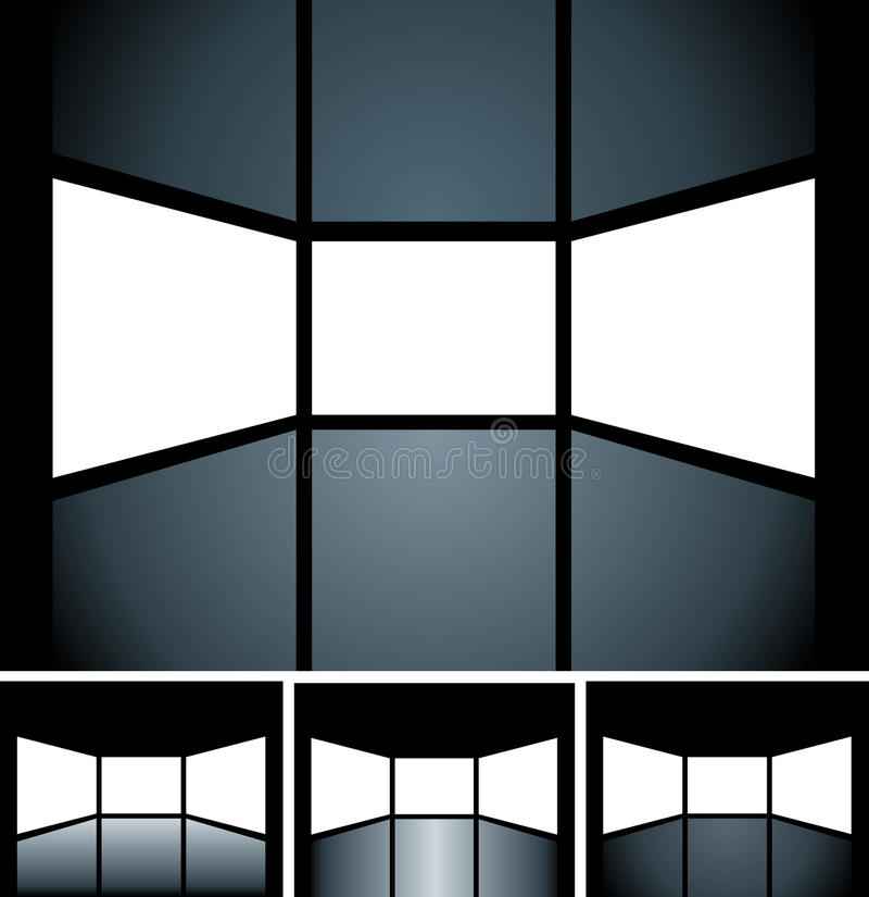 Écrans blanc illustration libre de droits