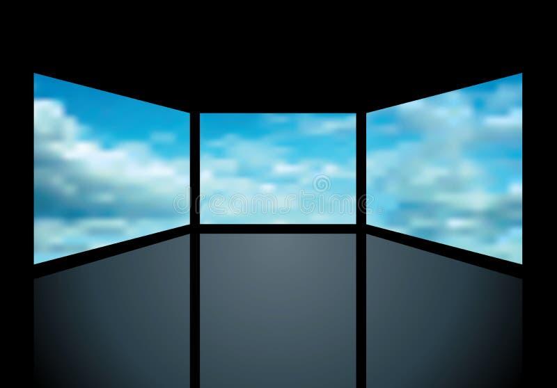 Écrans nuageux illustration libre de droits