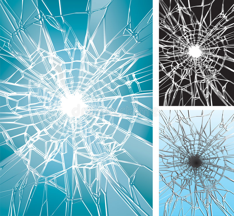 Écrasement en verre illustration de vecteur