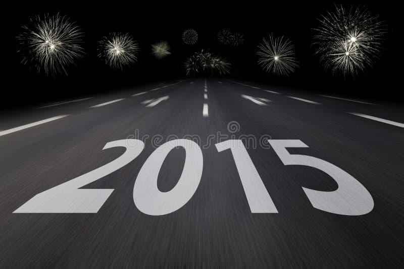 2015 écrit sur l'asphalte illustration stock