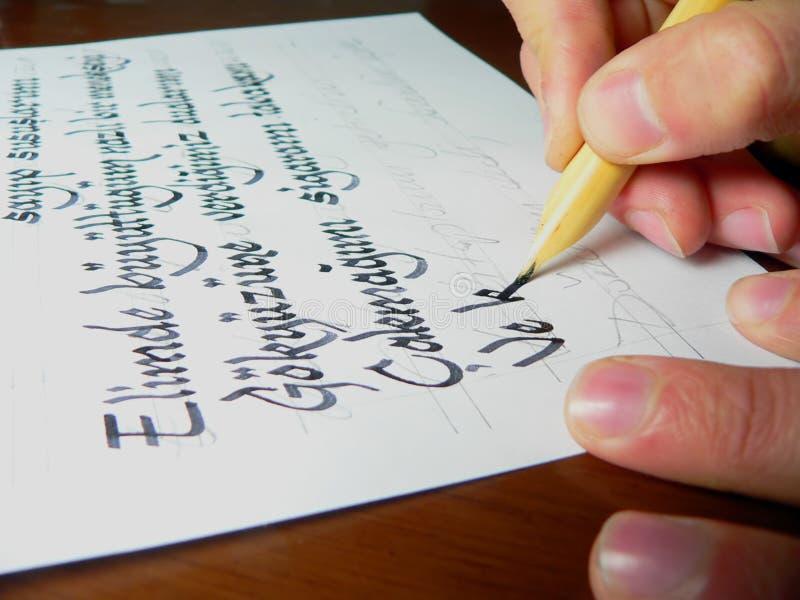 Écriture images stock