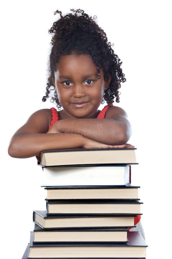 Écriture adorable de fille images stock