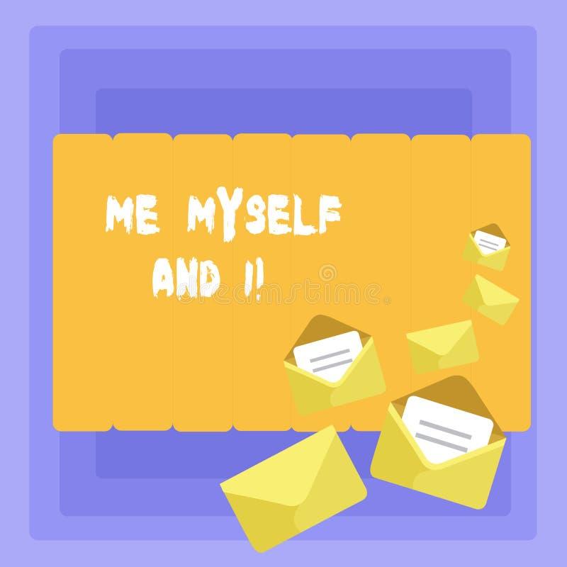 Écriture conceptuelle de main me montrant moi-même et I Photo d'affaires présentant la responsabilité de prise selfindependent ég illustration libre de droits