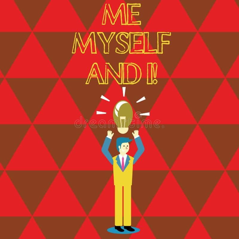 Écriture conceptuelle de main me montrant moi-même et I Responsabilité de prise selfindependent égoïste des textes de photo d'aff illustration de vecteur