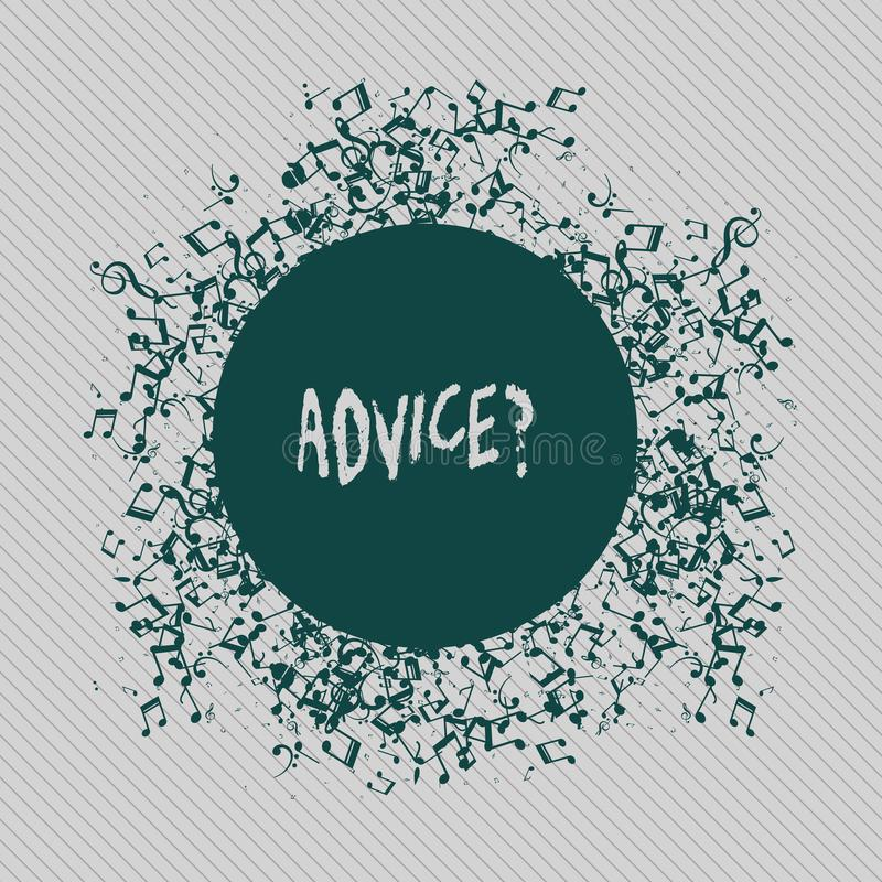 Écriture conceptuelle de main montrant Advicequestion Le texte de photo d'affaires conseillant l'aide d'encouragement recommanden illustration de vecteur