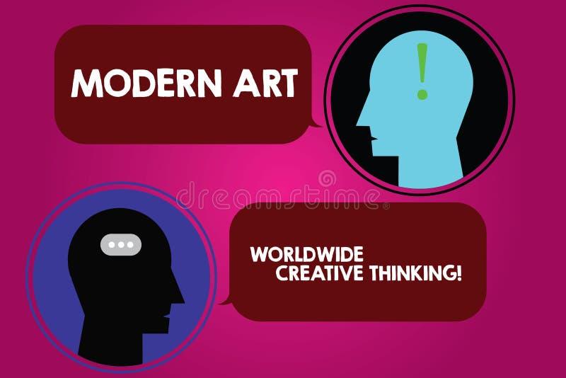 Écriture conceptuelle de main montrant Art Worldwide Creative Thinking moderne Expressions artistiques de créativité des textes d illustration libre de droits