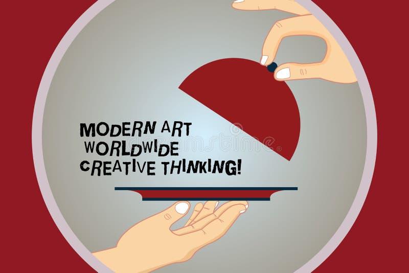 Écriture conceptuelle de main montrant Art Worldwide Creative Thinking moderne Expressions artistiques HU de créativité des texte illustration de vecteur