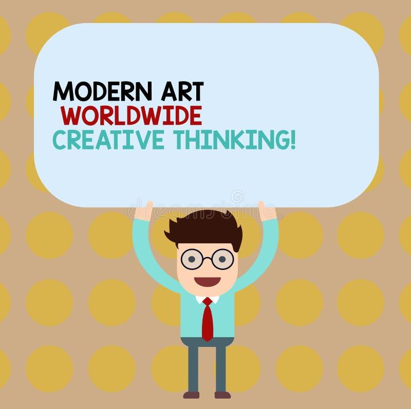 Écriture conceptuelle de main montrant Art Worldwide Creative Thinking moderne Expressions artistiques de présentation de créativ illustration stock