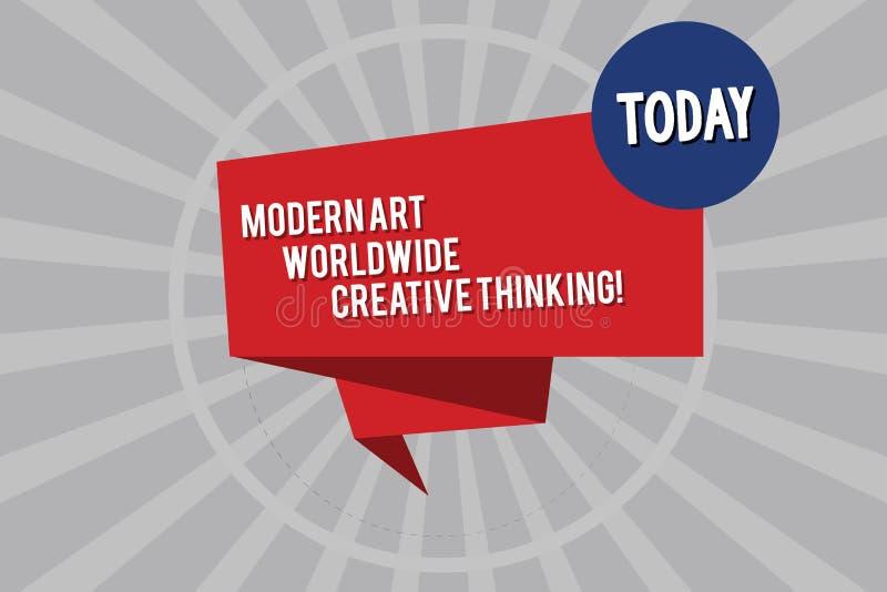 Écriture conceptuelle de main montrant Art Worldwide Creative Thinking moderne Expressions artistiques de présentation de créativ illustration libre de droits