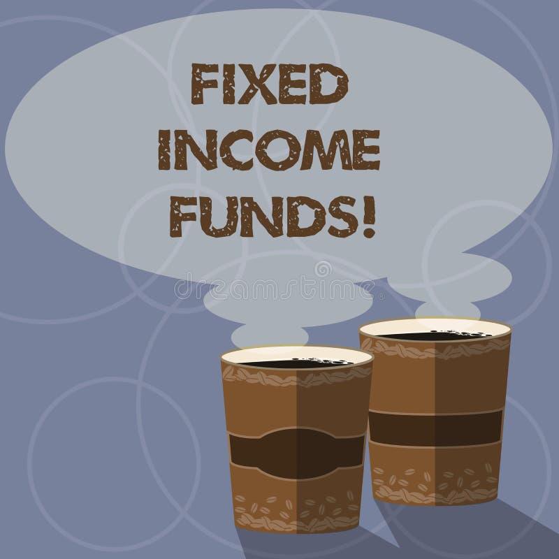 Écriture conceptuelle de main montrant des fonds de revenu Photo d'affaires présentant tout type d'investissement qui emprunteur  illustration libre de droits