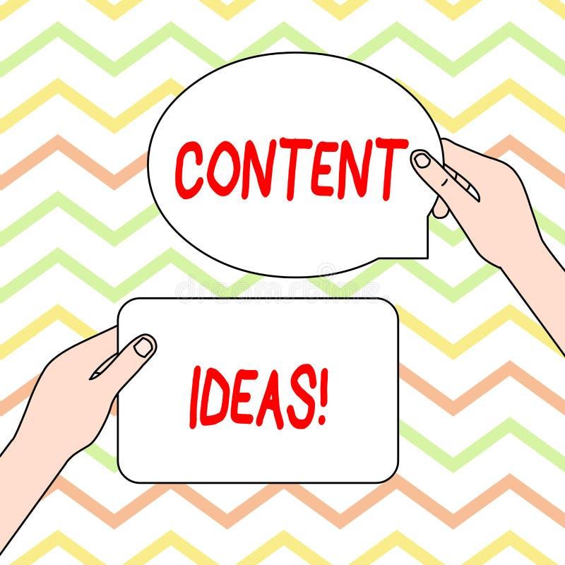 Écriture conceptuelle de main montrant des idées satisfaites Texte de photo d'affaires la pensée ou l'opinion formulée pour le co illustration libre de droits