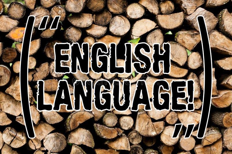 Écriture conceptuelle de main montrant l'anglais Lang indigène parlé par tiers des textes de photo d'affaires en monde après Chin photographie stock libre de droits