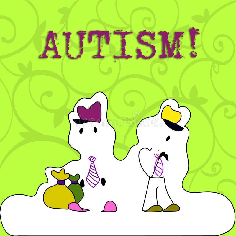 Écriture conceptuelle de main montrant l'autisme Conscience de présentation d'autisme de photo d'affaires conduite par le comité  illustration libre de droits