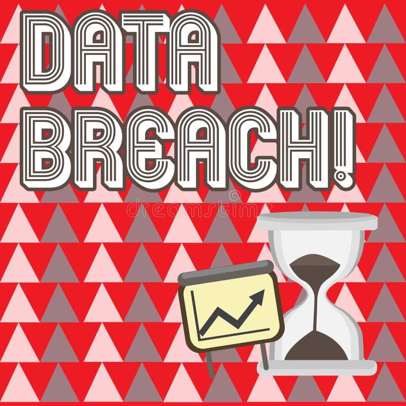 Écriture conceptuelle de main montrant l'infraction de données Incident de présentation de sécurité de photo d'affaires dans lequ illustration stock