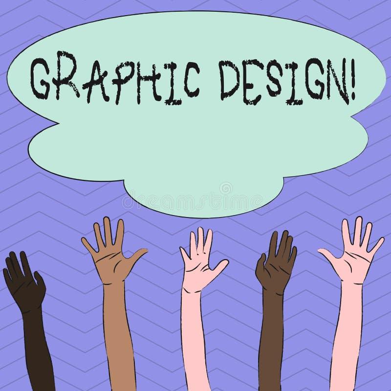 Écriture conceptuelle de main montrant la conception graphique Art de présentation de photo d'affaires de combiner des images des illustration libre de droits