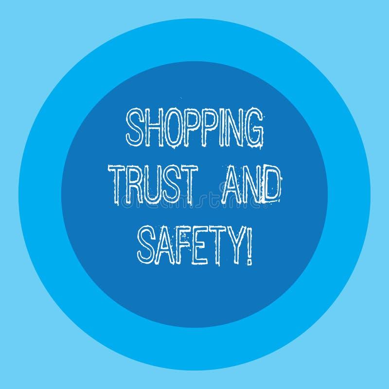 Écriture conceptuelle de main montrant la confiance et la sécurité de achat Sécurité des textes de photo d'affaires aux services  illustration libre de droits