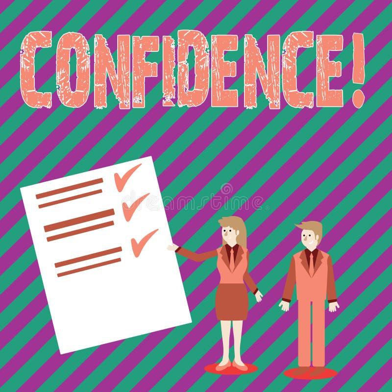 Écriture conceptuelle de main montrant la confiance Le texte de photo d'affaires doutant jamais jamais de votre valeur, inspirent illustration de vecteur