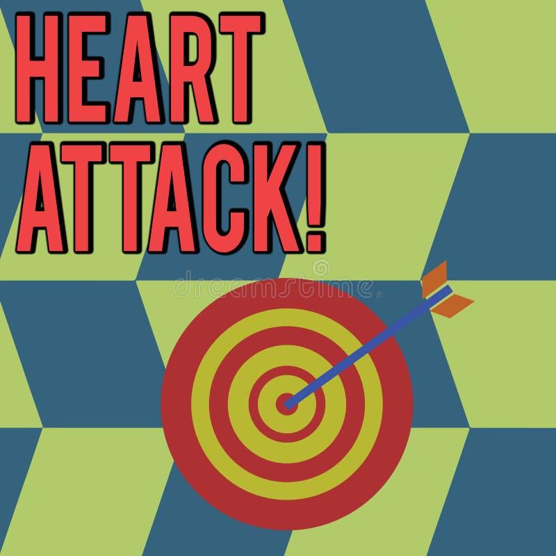 Écriture conceptuelle de main montrant la crise cardiaque Photo d'affaires présentant l'occurrence soudaine de l'infarctus du myo illustration libre de droits