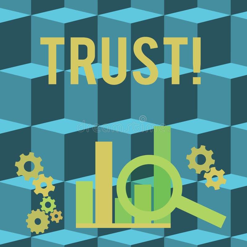 Écriture conceptuelle de main montrant la croyance de présentation de photo d'affaires de confiance dans la confiance de capacité illustration de vecteur