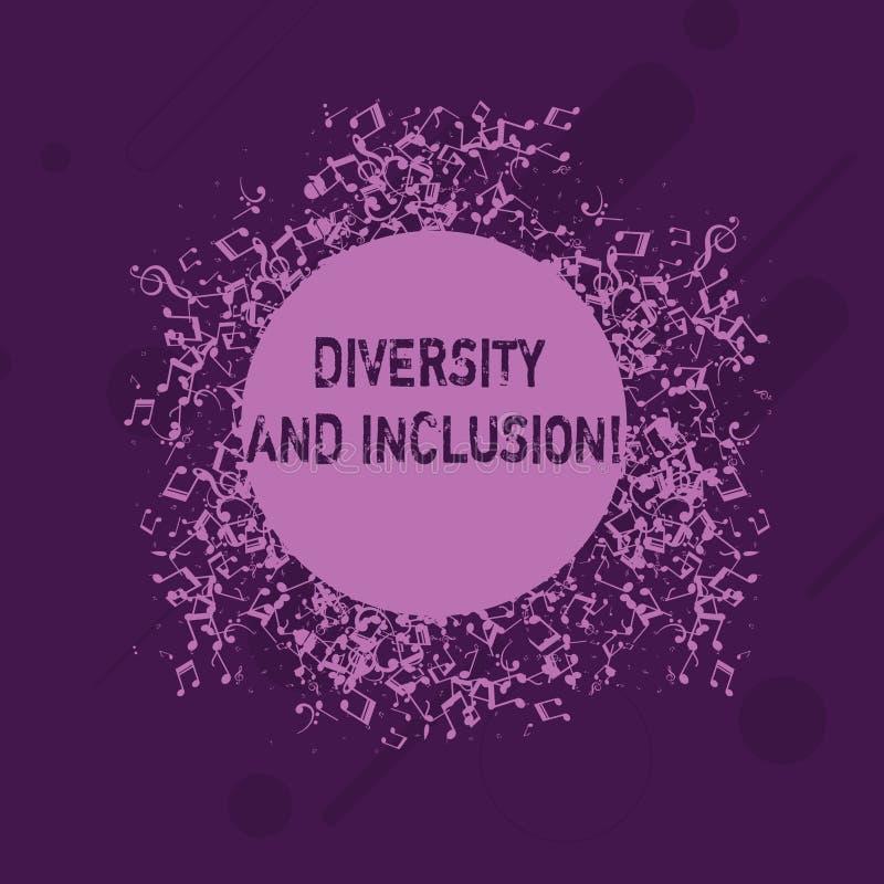 Écriture conceptuelle de main montrant la diversité et l'inclusion La différence de présentation de huanalysis de gamme de photo  illustration stock