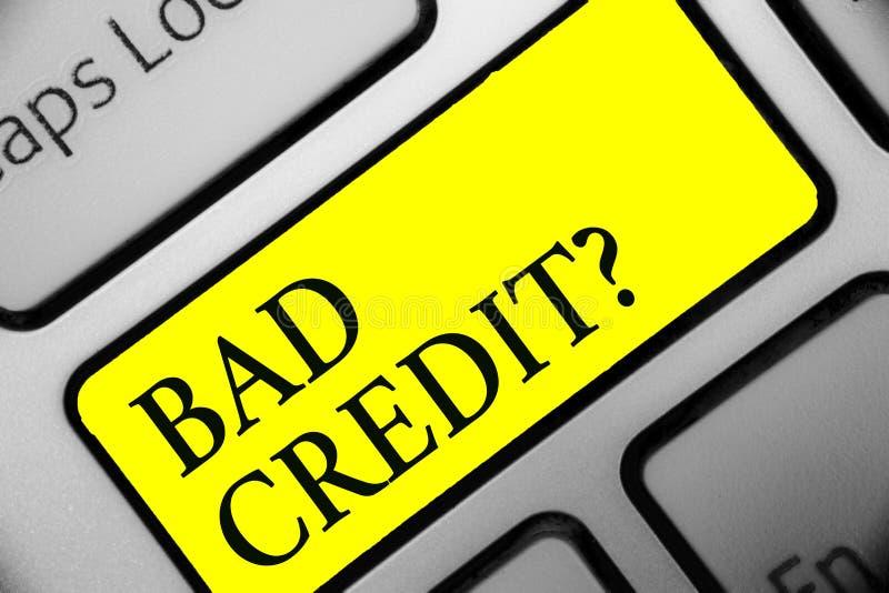 Écriture conceptuelle de main montrant la mauvaise question de crédit Histoire de présentation de photo d'affaires quand il indiq illustration de vecteur