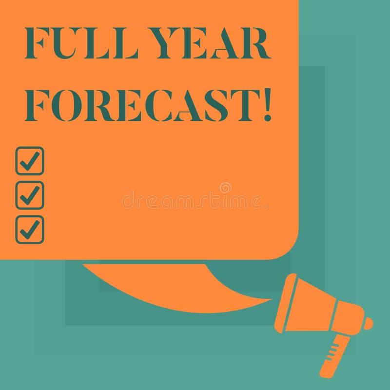 Écriture conceptuelle de main montrant la pleine évaluation des textes de photo d'affaires de prévision d'année du perforanalysis illustration de vecteur