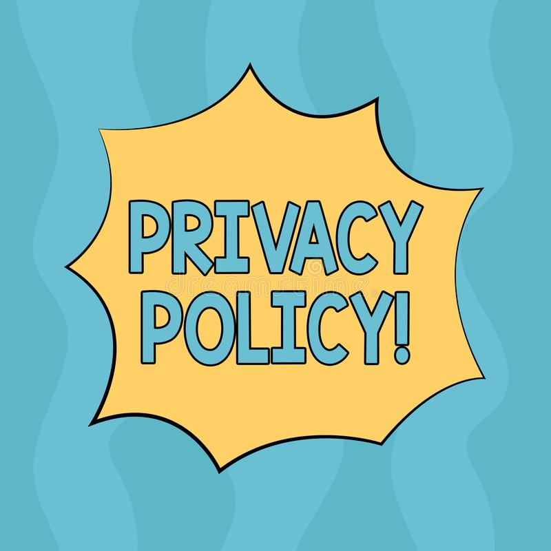 Écriture conceptuelle de main montrant la politique de confidentialité Protection des données confidentielle de protection des do illustration de vecteur