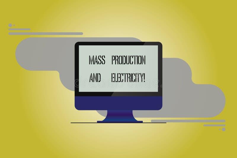 Écriture conceptuelle de main montrant la production en série et l'électricité Photo d'affaires présentant le courant électrique  illustration de vecteur