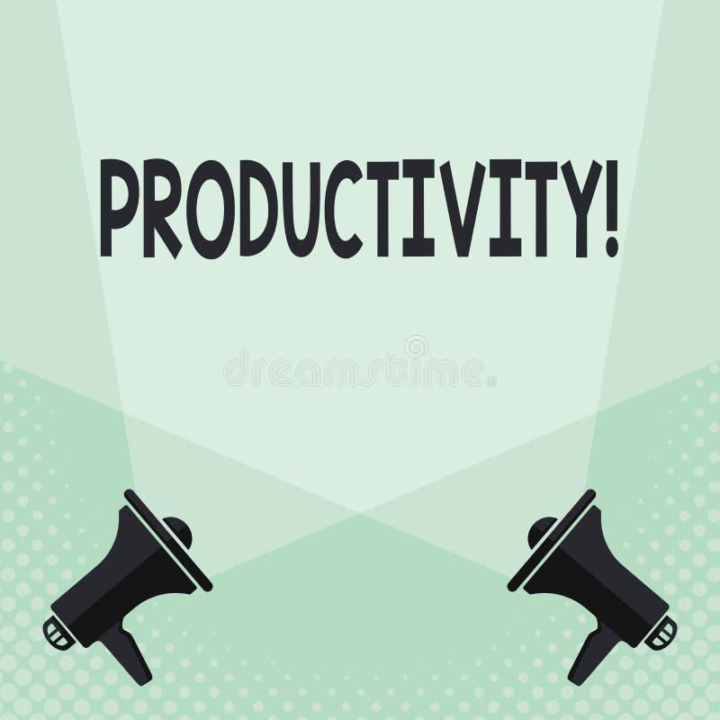 Écriture conceptuelle de main montrant la productivité Succès de perforanalysisce de travail efficace des textes de photo d'affai illustration de vecteur