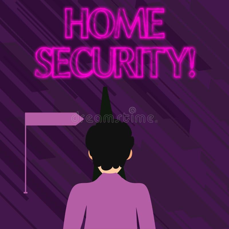 Écriture conceptuelle de main montrant la sécurité à la maison Texte de photo d'affaires un système qui aident à protéger votre m illustration libre de droits