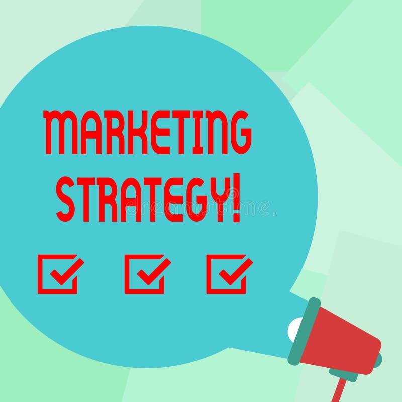 Écriture conceptuelle de main montrant la stratégie marketing Organisation pour la recherche de créativité de formule de plan des illustration stock