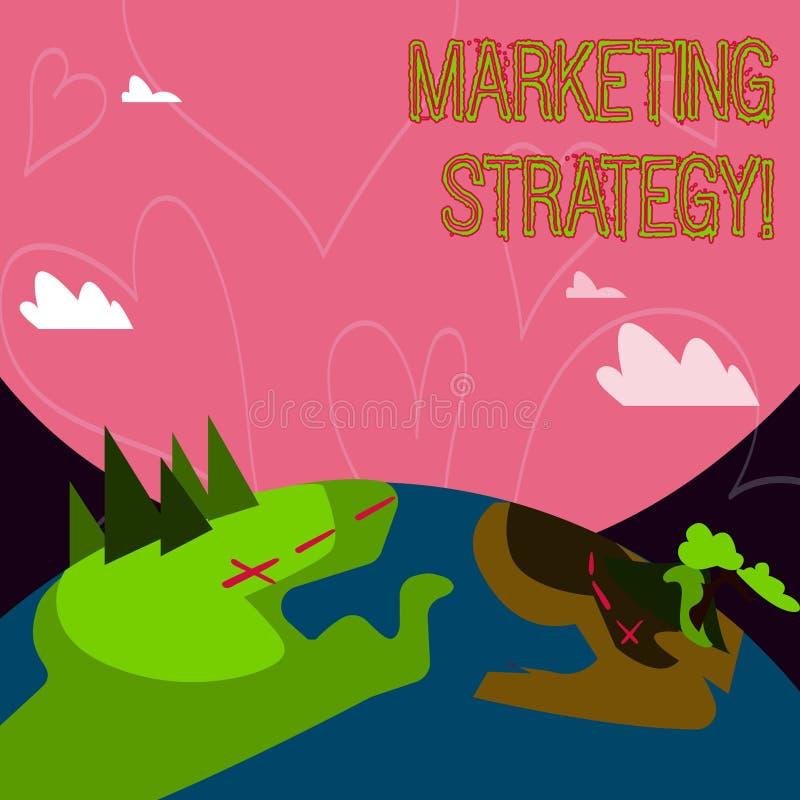Écriture conceptuelle de main montrant la stratégie marketing Organisation pour la recherche de présentation de créativité de for illustration stock