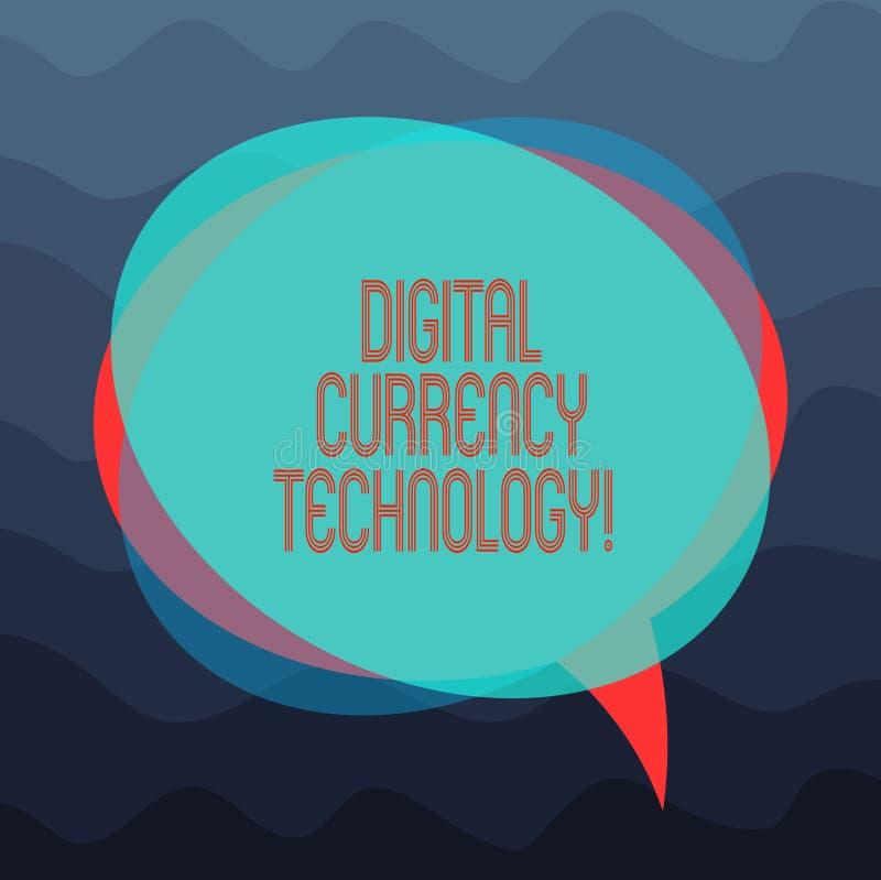 Écriture conceptuelle de main montrant la technologie de devise de Digital Devise de présentation de photo d'affaires disponible  illustration de vecteur