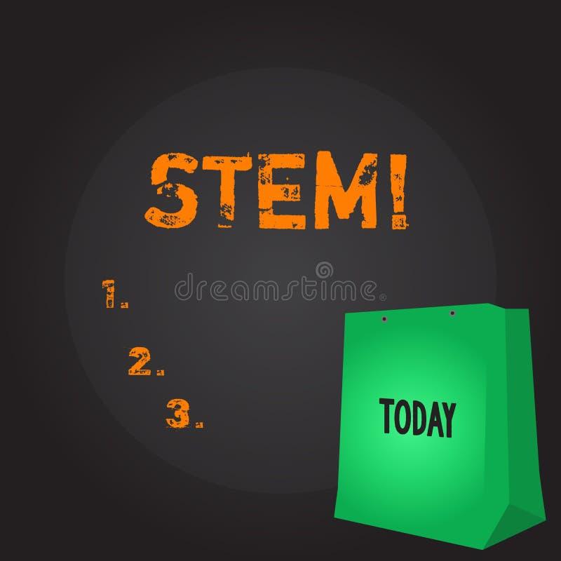 Écriture conceptuelle de main montrant la tige Destruction de présentation de développement de photo d'affaires des embryons de h illustration stock