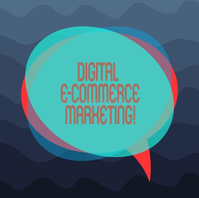 Écriture conceptuelle de main montrant le marketing de commerce électronique de Digital Achats de photo d'affaires et vente de pr illustration libre de droits