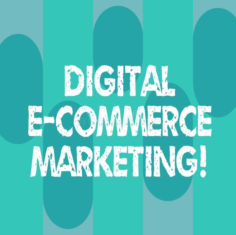 Écriture conceptuelle de main montrant le marketing de commerce électronique de Digital Achats de photo d'affaires et vente de pr illustration stock