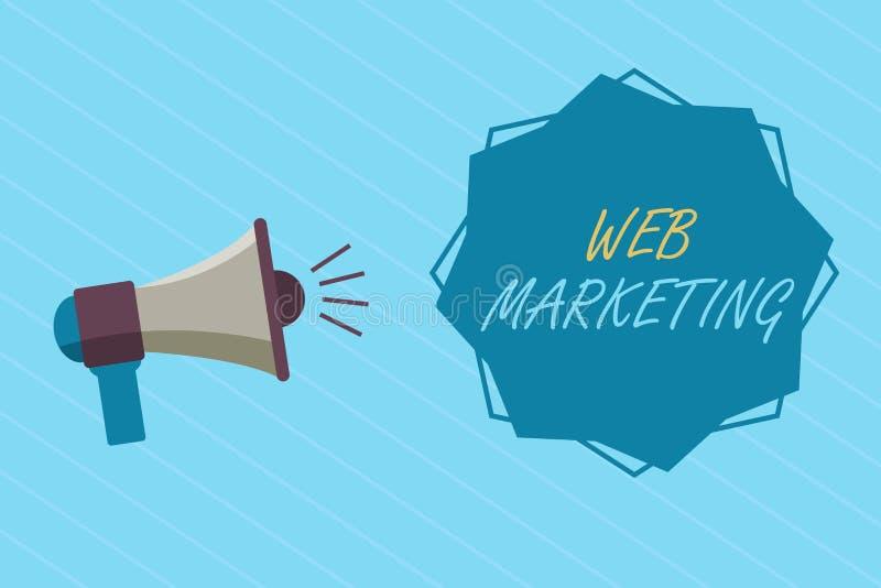 Écriture conceptuelle de main montrant le marketing de Web Photo d'affaires présentant la publicité de commerce électronique par  photo libre de droits