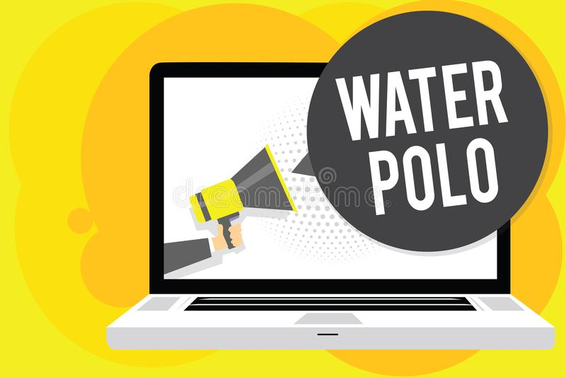 Écriture conceptuelle de main montrant le polo d'eau La photo d'affaires présentant le sport collectif concurrentiel a joué dans  illustration libre de droits
