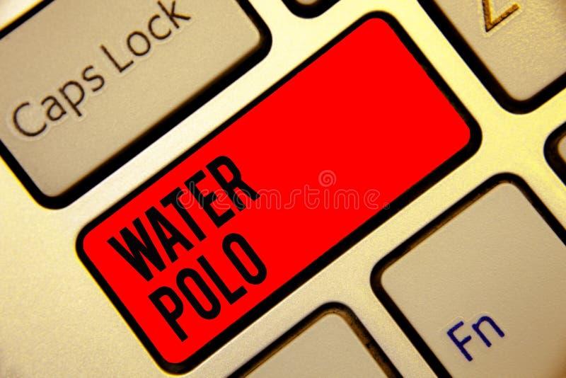 Écriture conceptuelle de main montrant le polo d'eau Le sport collectif concurrentiel des textes de photo d'affaires a joué dans  illustration de vecteur