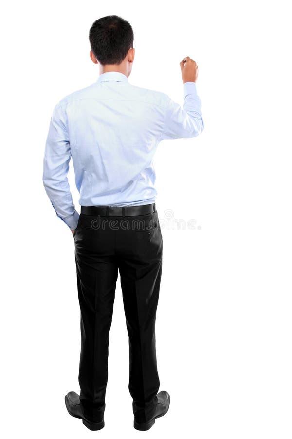 Écriture d'homme d'affaires, dessin sur l'écran image libre de droits